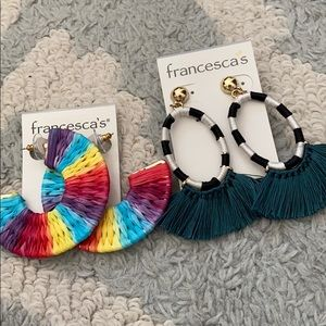 NEW WITH TAGS Francesca's 2 Pack Earrings